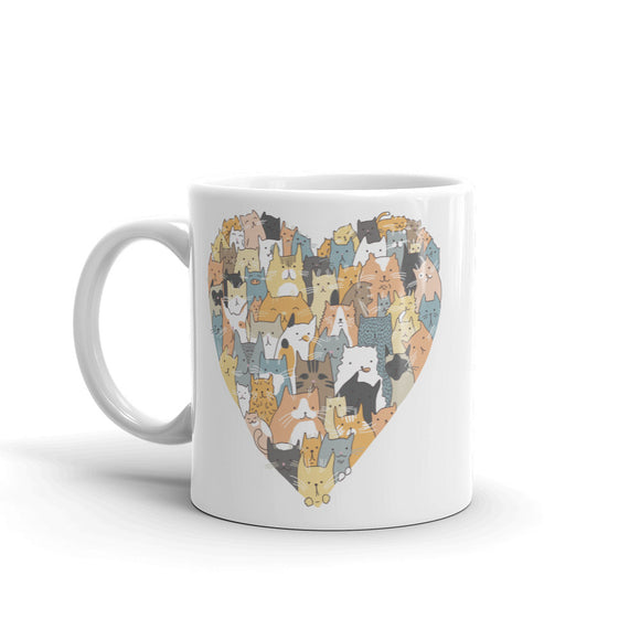 Cat Love Heart High Quality 10oz Coffee Tea Mug #4764