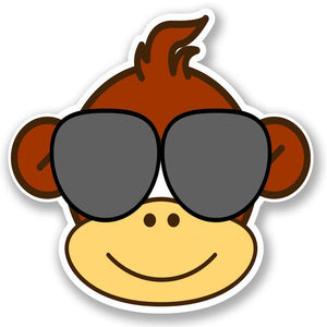 2 x Cool Monkey Vinyl Sticker #4765