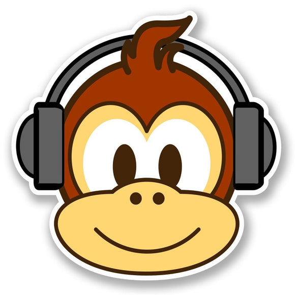 2 x Fun Monkey Vinyl Sticker #4766