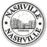 2 x Nashville Tennessee Vinyl Sticker #4773