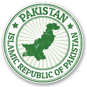 2 x Pakistan Vinyl Sticker #4778