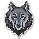 2 x Grey Wolf Vinyl Sticker #4784