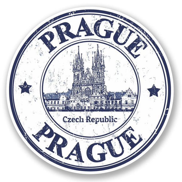 2 x Prague Czech Republic Vinyl Sticker #4796
