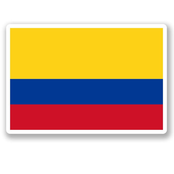 2 x Colombia Flag Vinyl Sticker #4830