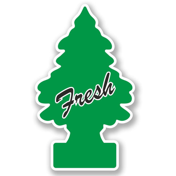 2 x Fresh Tree Vinyl Sticker #4976