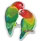 2 x Love Birds Vinyl Sticker #5036