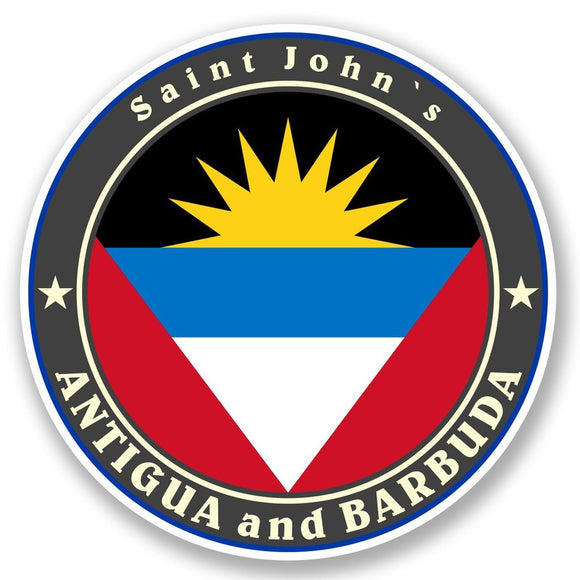 2 x Antigua and Barbuda Vinyl Sticker #5038