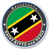 2 x Saint Kitts and Nevis Vinyl Sticker #5042