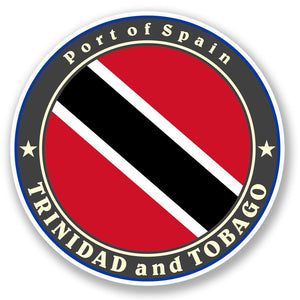 2 x Trinidad and Tobago Vinyl Sticker #5044