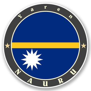 2 x Nauru Vinyl Sticker #5089