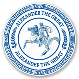 2 x Alexander The Great Vinyl Sticker #5102