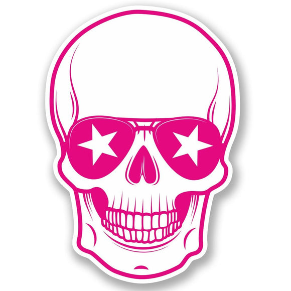 2 x Cool Skull Vinyl Sticker #5115