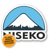 2 x Niseko Ski Snowboard WINDOW CLING STICKER Car Van Campervan Glass #5155