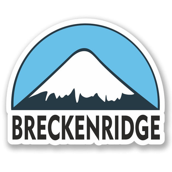 2 x Breckenridge USA Ski Snowboard Vinyl Sticker #5158