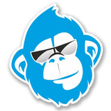 2 x Blue Monkey Vinyl Sticker #5178