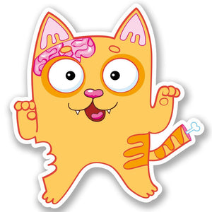 2 x Zombie Cat Vinyl Sticker #5183