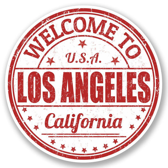 2 x Los Angeles California USA Vinyl Sticker #5217
