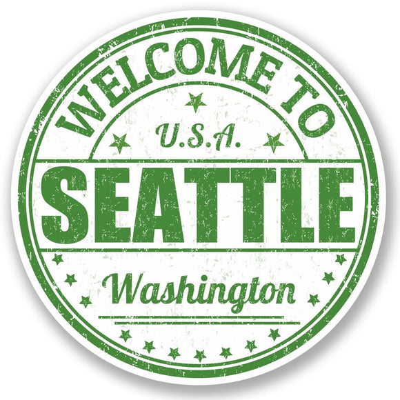 2 x Seattle Washington USA Vinyl Sticker #5218