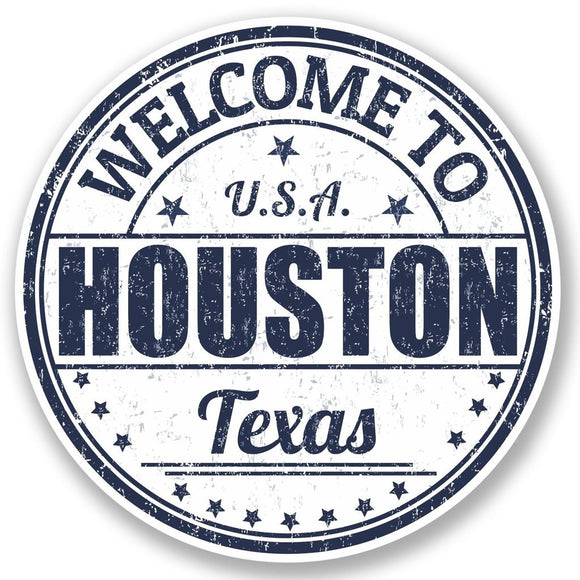 2 x Houston Texas USA Vinyl Sticker #5222