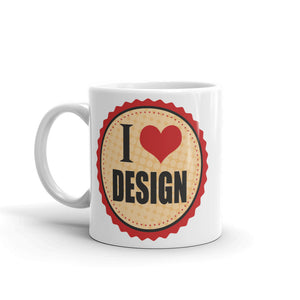I Love Design High Quality 10oz Coffee Tea Mug #5227