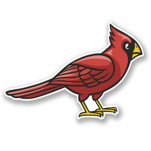 2 x Cardinal Red Bird Mascot Vinyl Sticker #5228