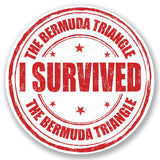 2 x Bermuda Triangle Vinyl Sticker #5234