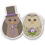 2 x Wedding Couple Vinyl Sticker #5243