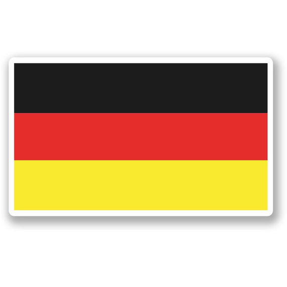 2 x German Flag Vinyl Sticker #5262