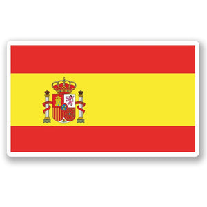 2 x Spain Spanish Flag Vinyl Sticker #5271