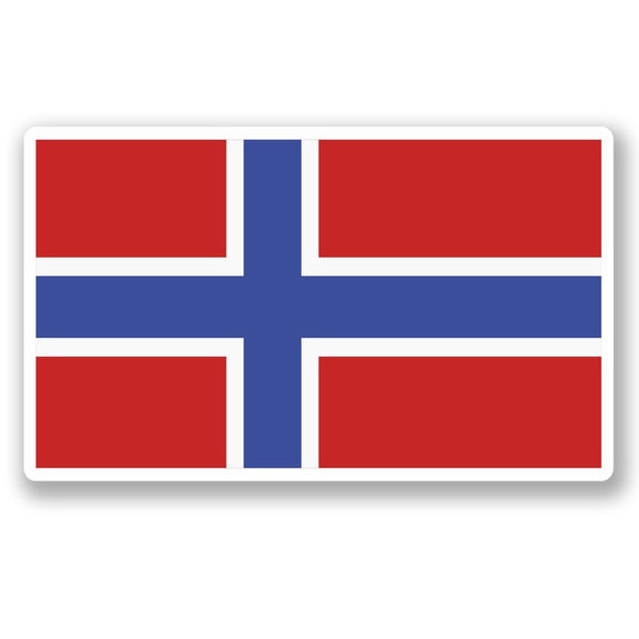 2 x Norway Flag Vinyl Sticker #5273