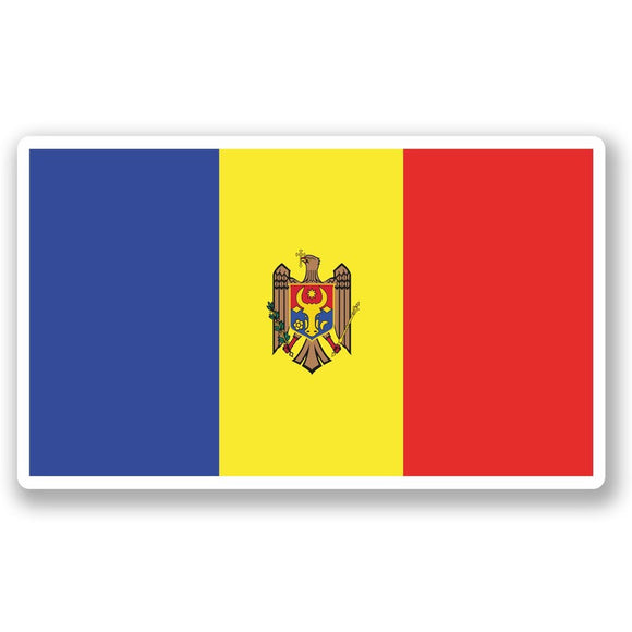 2 x Moldova Flag Vinyl Sticker #5280