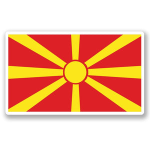 2 x Macedonia Flag Vinyl Sticker #5285