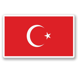 2 x Turkey Flag Vinyl Sticker #5286