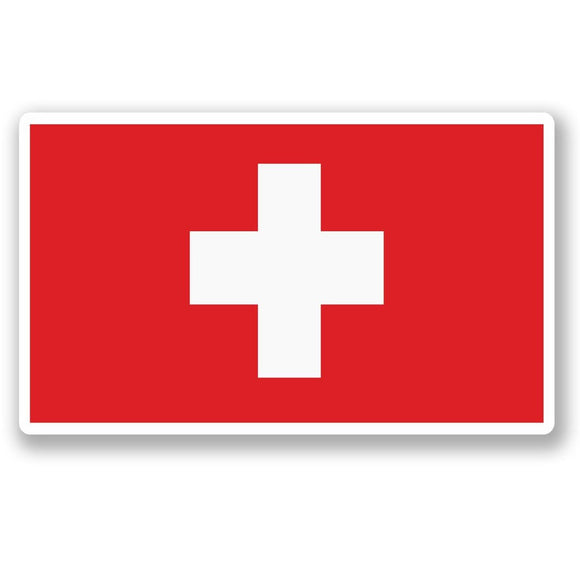 2 x Switzerland Flag Vinyl Sticker #5288