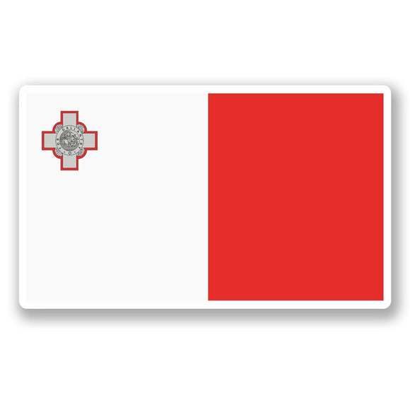2 x Malta Flag Vinyl Sticker #5297
