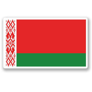 2 x Belarus Flag Vinyl Sticker #5298