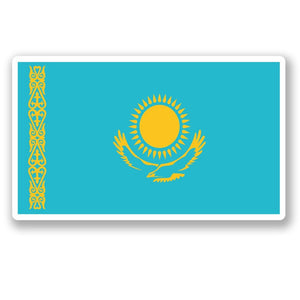 2 x Kazakhstan Flag Vinyl Sticker #5311