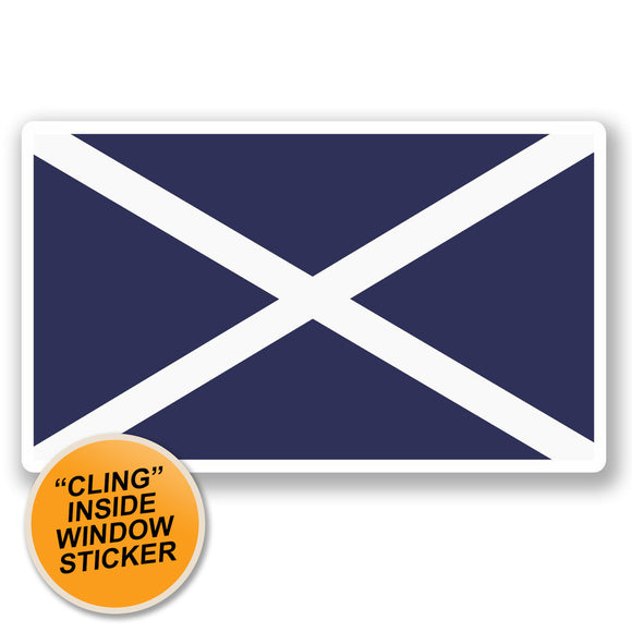 2 x Scotland Flag WINDOW CLING STICKER Car Van Campervan Glass #5313