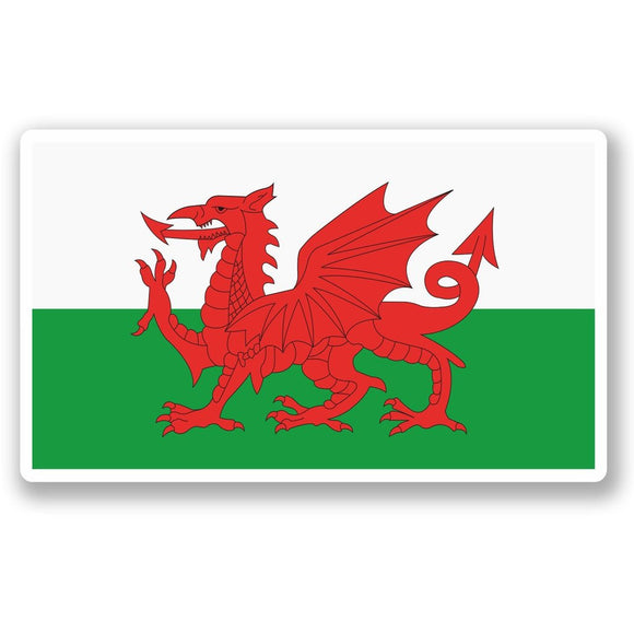 2 x Wales Welsh Flag Vinyl Sticker #5315