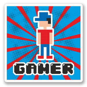 2 x Gamer Vinyl Sticker #5329