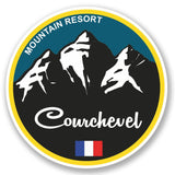 2 x Courchevel Ski Snowboard Vinyl Sticker #5336