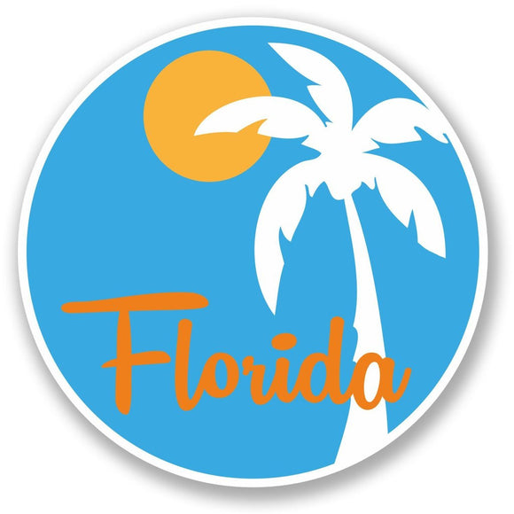 2 x Florida Vinyl Sticker #5349