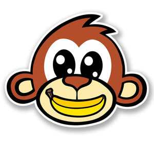 2 x Cheeky Money Banana Vinyl Sticker #5390