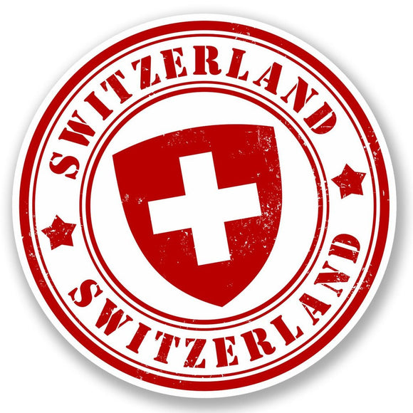 2 x Switzerland Vinyl Sticker #5392