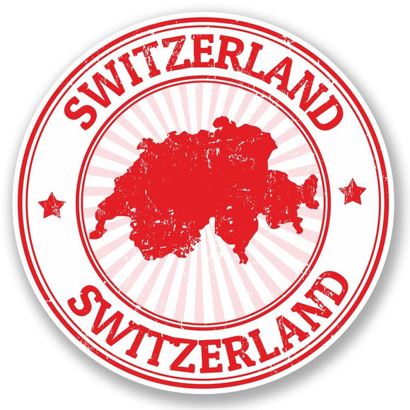 2 x Switzerland Vinyl Sticker #5396