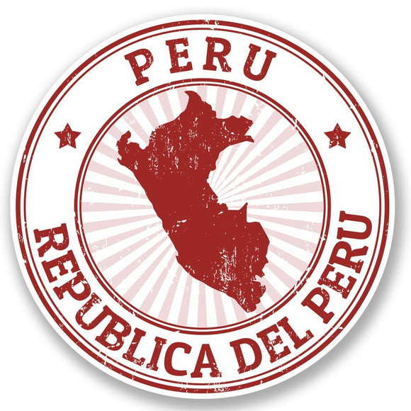 2 x Peru Travel Vinyl Sticker #5398