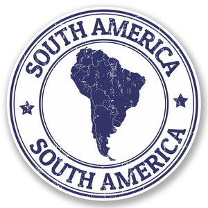2 x South America Vinyl Sticker #5399