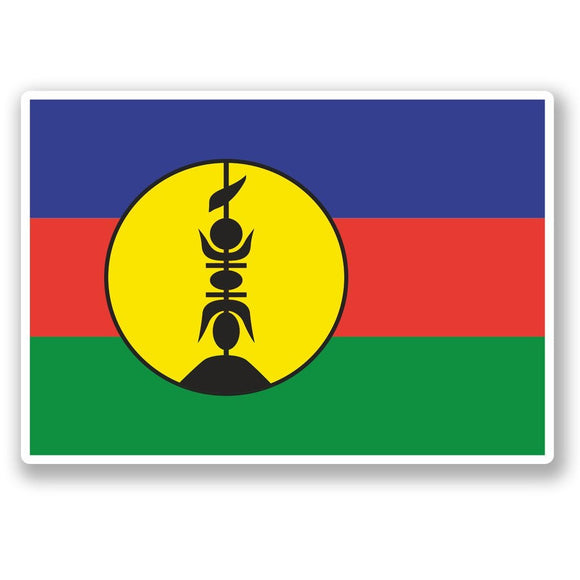 2 x New Caledonia Vinyl Sticker #5410