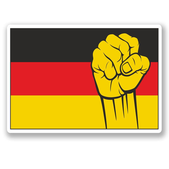 2 x German Flag Vinyl Sticker #5417