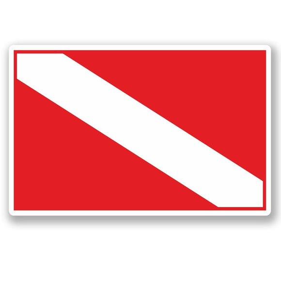 2 x Scuba Diving Flag Vinyl Sticker #5418